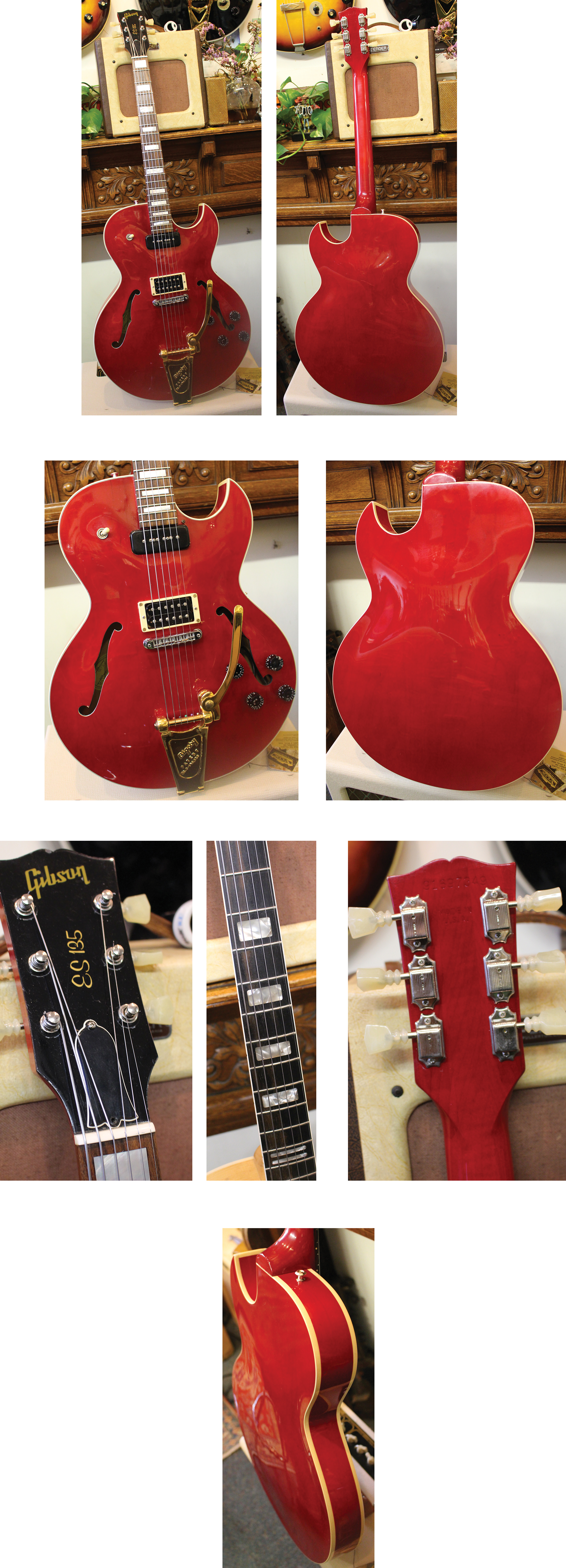 Lark Street Music Vintage Guitars Teaneck Nj Guitar Plans Further Gibson Es 355 2016 Explorer Wiring 2900 135 1997 Cherry 2 P 90s But The Lead Pickup Changed To A Humbucker Bigsby Added And Pearl Block Inlays Fretboard