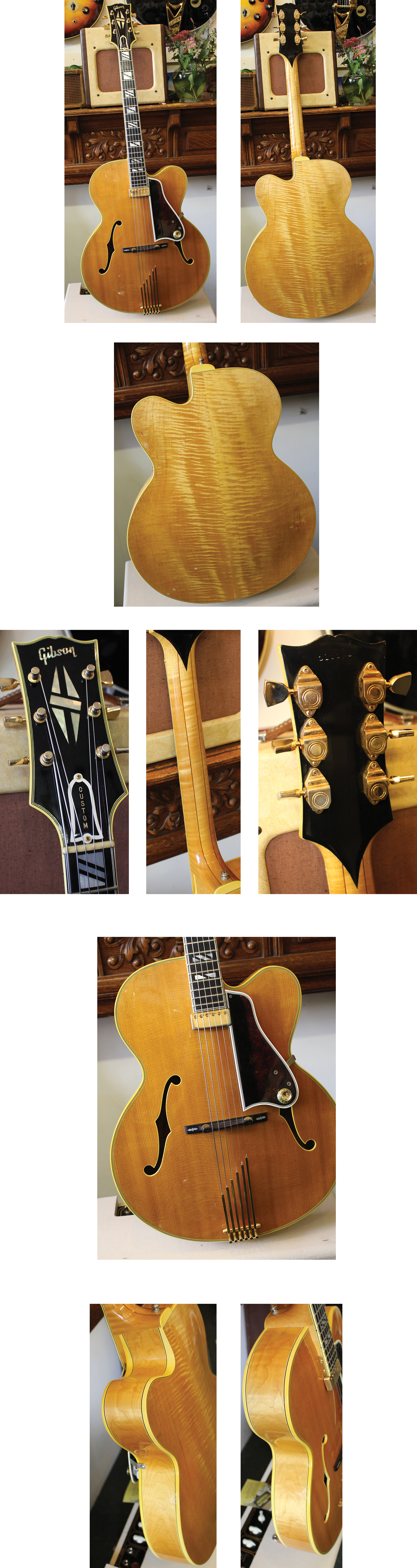 Lark Street Music Vintage Guitars Teaneck Nj 1965 Gibson Es345 Wiring Repair Chicago Fret Works Guitar 6950 Johnny Smith C Or 68 Blonde Single Floating Pickup Curly Maple Back And Figured Sides Exc Ohsc