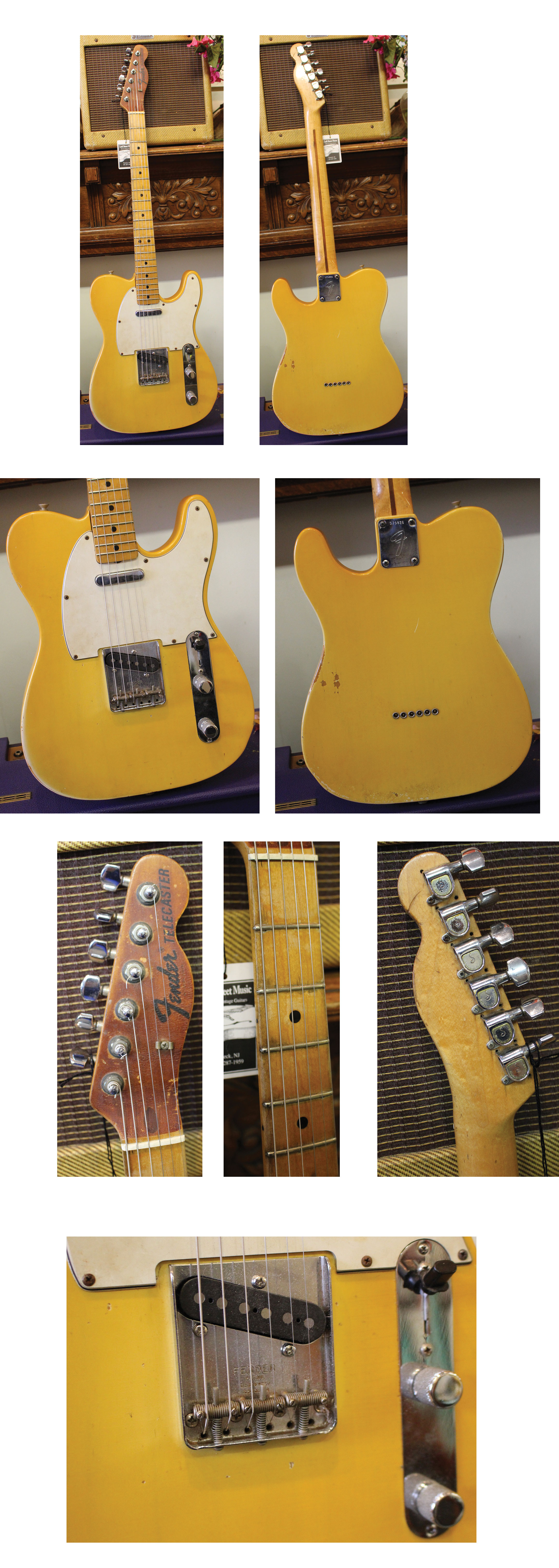 18ffa192 $400 TELECASTERS *FENDER Telecaster, 1971, Blonde, original neck pickup,  Duncan 1/4 pounder at bridge, Maple neck with Schaller tuners, refretted  with jumbo ...