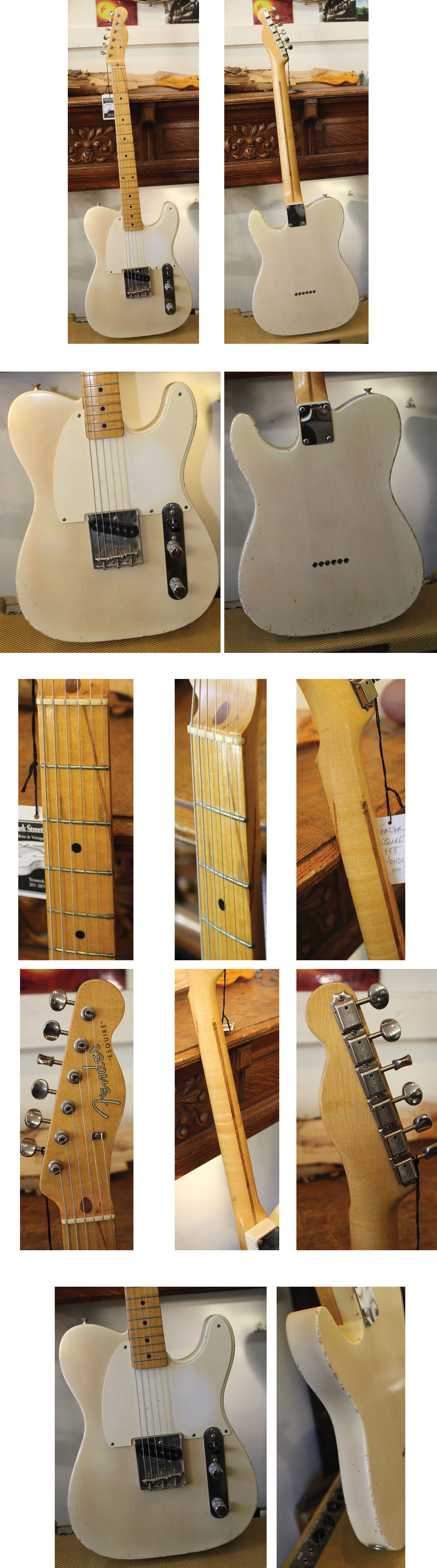 DIY//Build Your Own GUITAR KIT J Master Offset Olympic White w//Block Inlay Neck