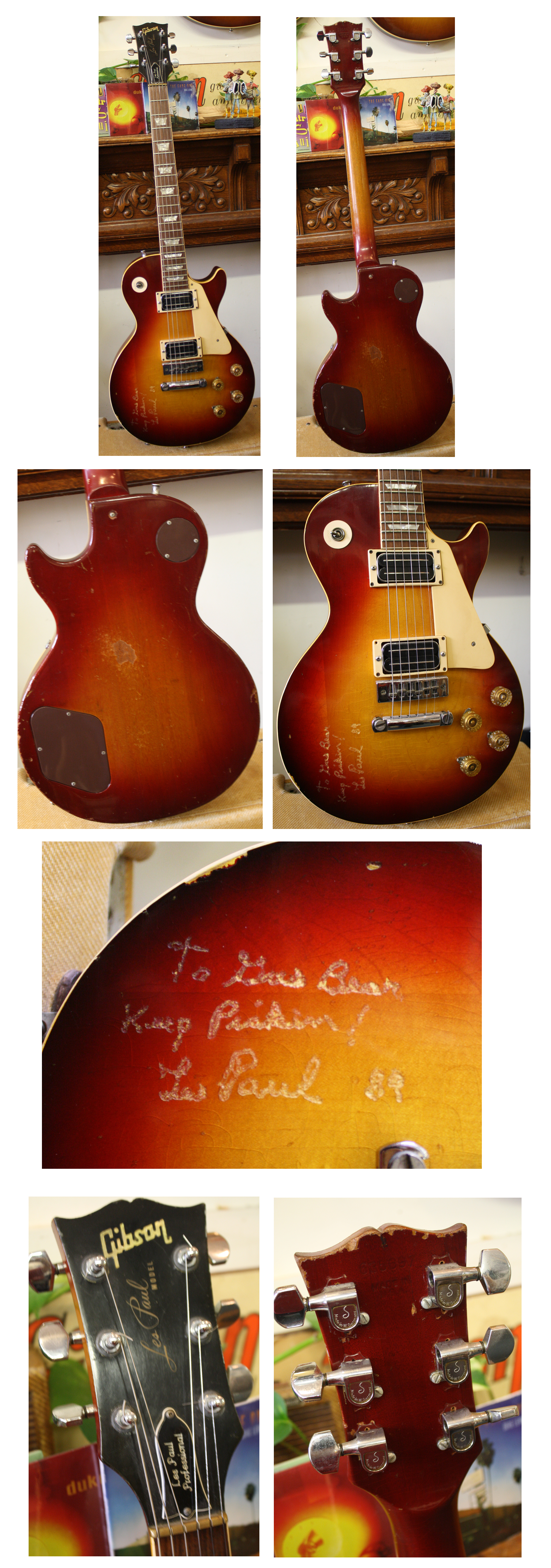 Lark Street Music Vintage Guitars Teaneck Nj 1967 Gibson Sg Wiring Harness 3750 Les Paul Deluxe Ca 1973 Cherry Sunburst Bill Lawrence Humbuckers Type Bridge Schallers Engraved Autograph Vgc Hsc