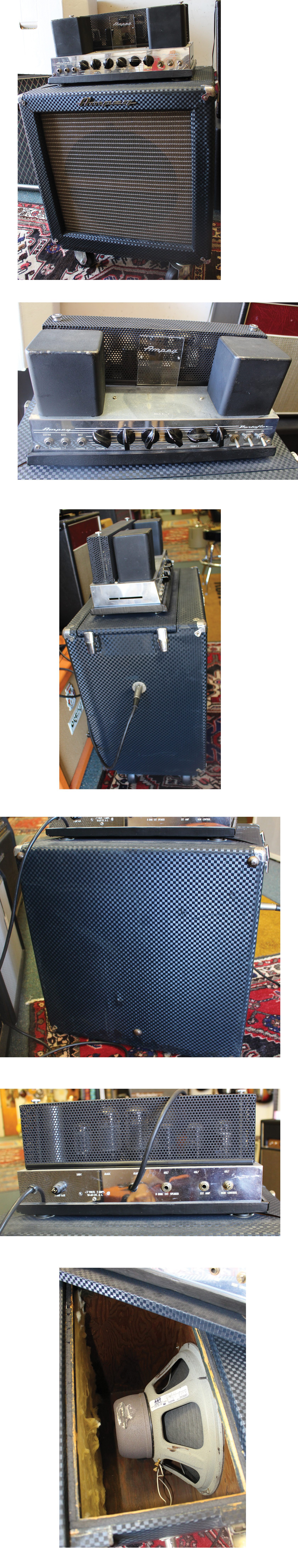 Lark Street Music Just In 1905 30 Amp Fuse Box 2200 Ampeg B 15n C 1965 Blue Square Tolex Looks Old And New Could Be A Factory Recover The Classic Fliptop Bass Speaker Like 15