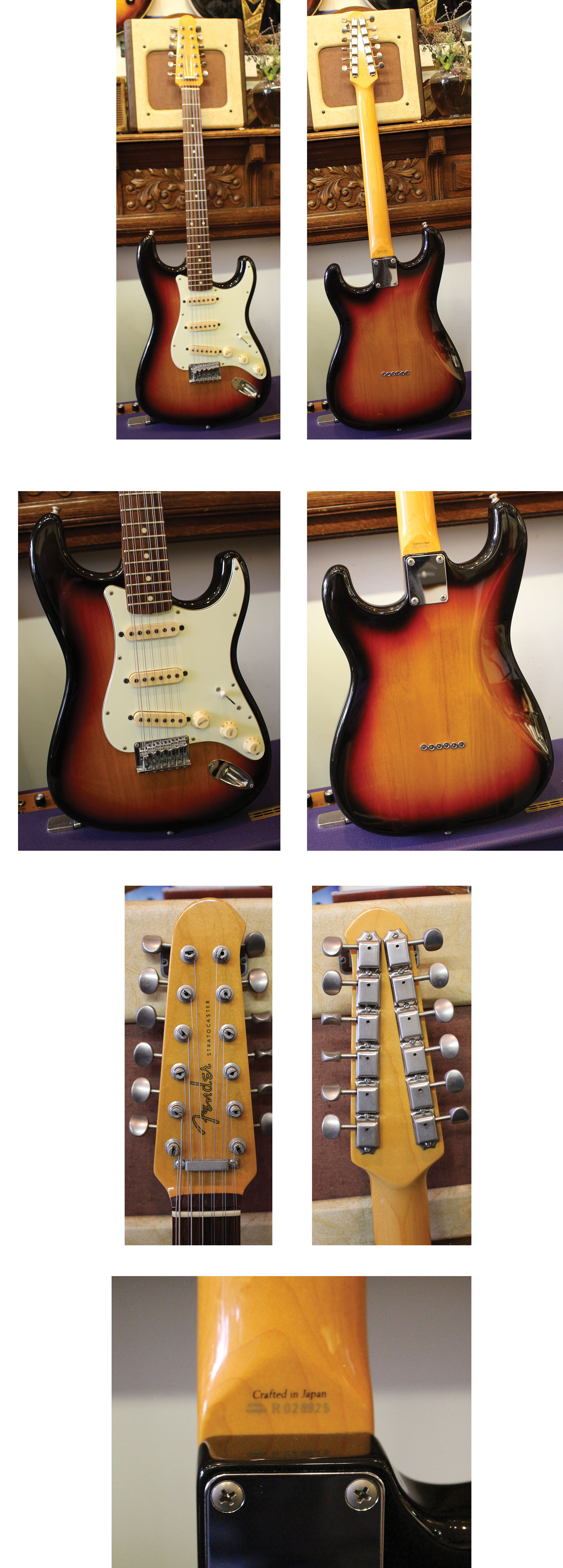 Stock Guitar Gretsch Tone Switch And Knob Besides Control Wiring 650 Fender Stratocaster 12 String Crafted In Japan Sunburst Rosewood Board Strat Body With Paddle Head Neck Exc Ohsc